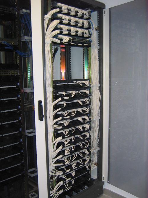 Armario de cableado de red